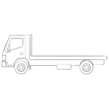 flatbed truck coloring pages