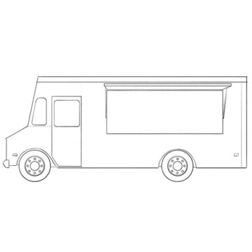 food truck coloring pages