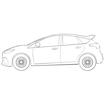 ford focus rs coloring pages