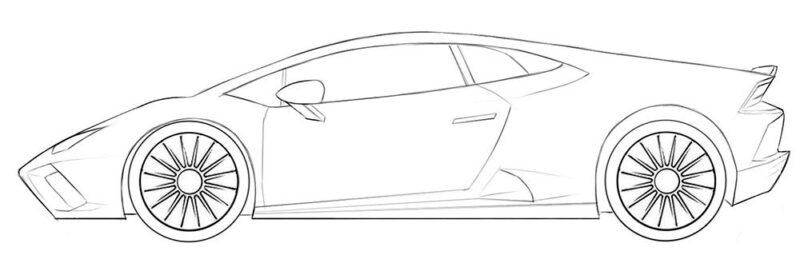 lamborghini car coloring page