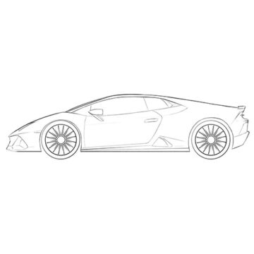 lamborghini huracan coloring pages