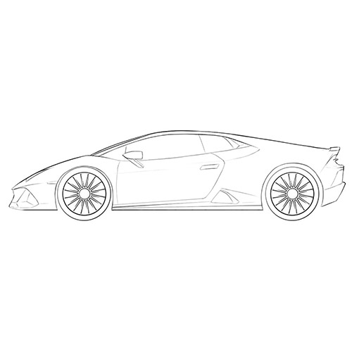 Lamborghini Huracan Coloring Page