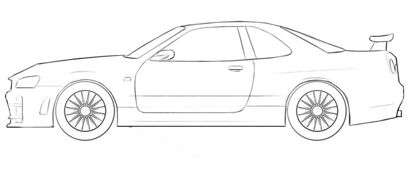nissan skyline coloring page