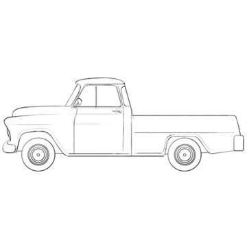 old chevy truck coloring pages
