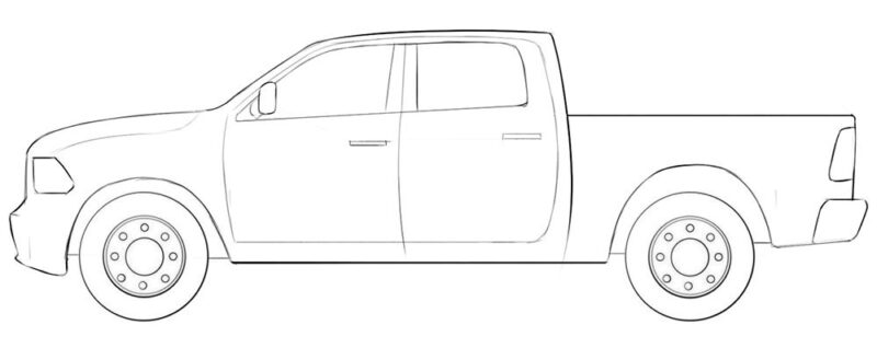 ram truck coloring page