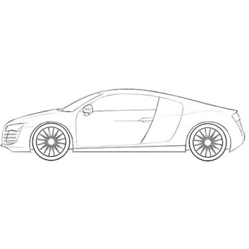 realistic car coloring pages