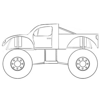 simple monster truck coloring pages